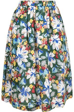 YMC Frida floral-print midi skirt