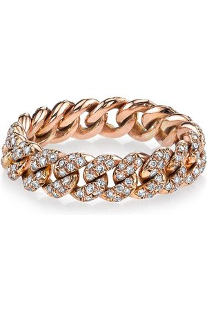 Shay Women Rings - 18kt rose gold mini pave diamond link ring