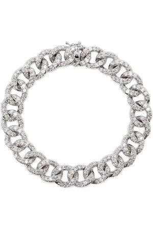 Leo Pizzo Women Bracelets - 18kt white gold diamond Groumette bracelet
