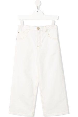 Elisabetta Franchi La Mia Bambina High-rise straight leg jeans - Neutrals