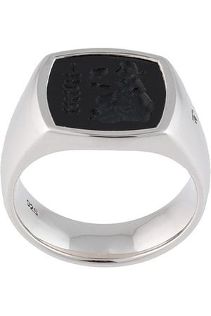 TOM WOOD Rings - Sterling Athena cushion onyx ring