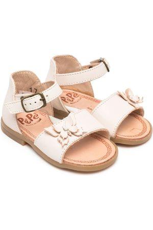 PèPè Bow-detail leather sandals - Neutrals