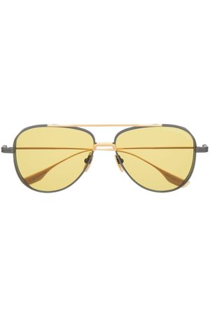 DITA EYEWEAR Aviator sunglasses - BLK/ GLD IRON W/ GOLDEN AMBER