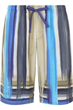 Dolce & Gabbana Brushstroke-print jersey track shorts
