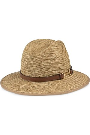 Gucci Horsebit detail straw hat - Neutrals