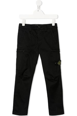 Stone Island Logo-patch trousers
