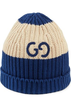 Gucci GG embroidered knitted beanie - Neutrals