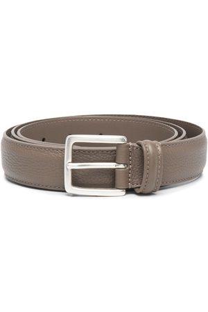 DELL'OGLIO Adjustable buckle belt - Neutrals