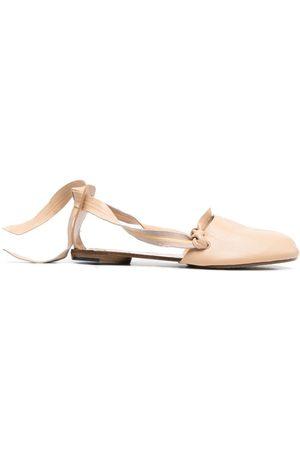 Maison Margiela Women Ballerinas - Tabi knot detailing ballerina shoes - Neutrals