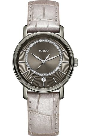 Rado Women Watches - R14064715 Diamaster ceramic and leather watch
