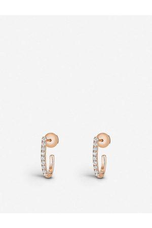 MESSIKA Women Earrings - Gatsby 18ct rose- and diamond hoop earrings