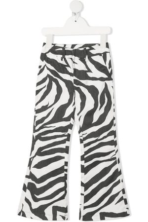Caroline Bosmans Zebra-print flared trousers