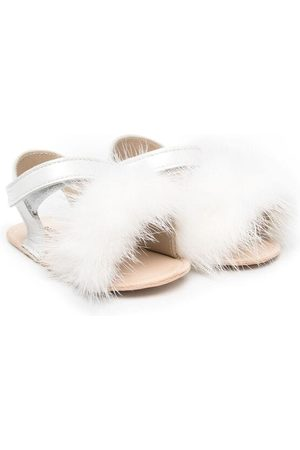 BabyWalker Faux-fur strap sandals