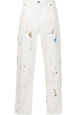 Alchemist Paint-splatter print straight leg jeans