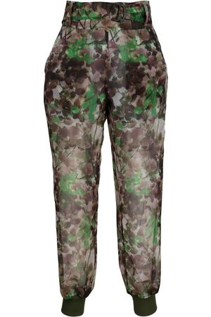 Mr & Mrs Italy Blossom camouflage-print trousers