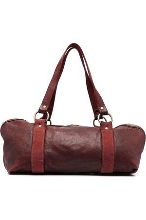 GUIDI Contrast-strap tote bag