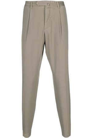 DELL'OGLIO Concealed-front trousers - Neutrals