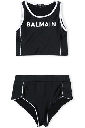 Balmain Logo-print shorts tracksuit