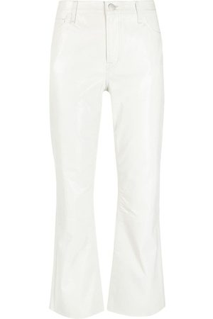 J Brand Cropped leather trousers - Neutrals