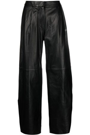 OFF-WHITE Tie-ankle straight-leg trousers