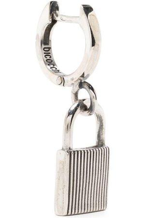 EMANUELE BICOCCHI Men Earrings - Lock-detail hoop earring