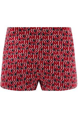 Miu Miu Women Shorts - Monogram-jacquard Velvet Shorts - Womens - Multi