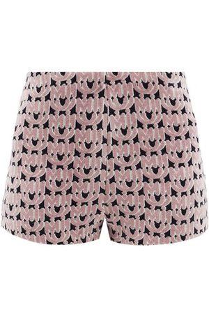 Miu Miu Monogram-jacquard Chenille Shorts - Womens - Multi
