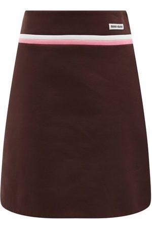 Miu Miu Technical Fleece Mini Skirt - Womens