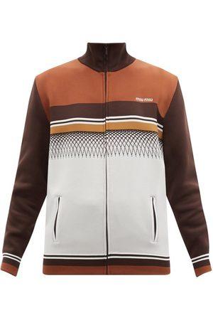 Miu Miu Striped Jersey Track Jacket - Womens