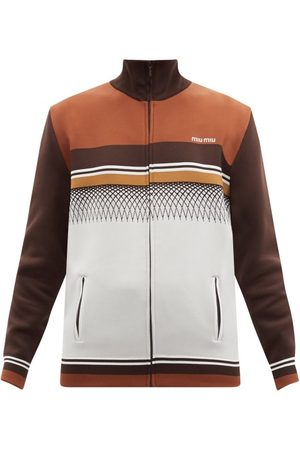 Miu Miu Women Summer Jackets - Striped Jersey Track Jacket - Womens