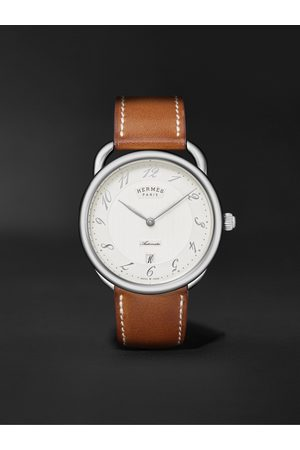 Hermès Arceau Automatic 40mm Stainless Steel and Leather Watch, Ref. No. 055473WW00