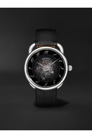 Hermès Men Watches - Arceau Squelette Automatic 40mm Stainless Steel and Leather Watch, Ref. No. 055631WW00