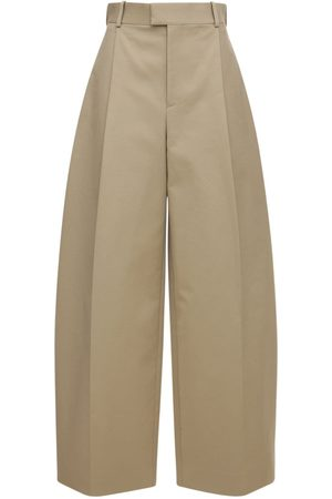 Bottega Veneta Women Wide Leg Trousers - Double Cotton Wide Leg Pants