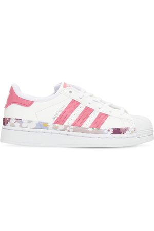 adidas Girls Trainers - Superstar Leather Sneakers