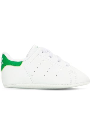 adidas Stan Smith Crib Faux Leather Sneakers