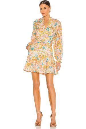 Rebecca Vallance Women Dresses - Ottoman Long Sleeve Mini Dress in ,Pink. Size 8/S, 6/XS, 12/L.
