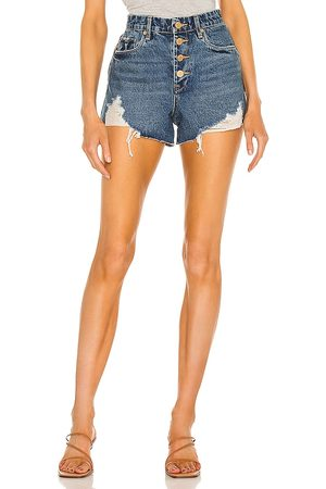 BLANK NYC Denim Exposed Button Cutoff Short in . Size 26, 25, 27, 28, 29, 30, 31.