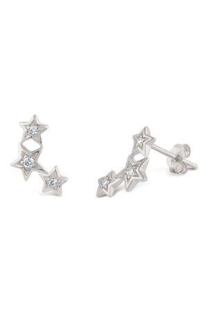 Dinny Hall Bijou Solid 14k Star Diamond Stud Earrings