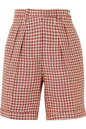 Giuliva Heritage Collection Woman The Alana Houndstooth Linen Shorts Size 36