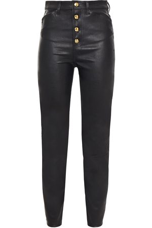 SPRWMN Women Leather Trousers - Woman Leather Skinny Pants Size M