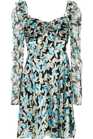 Diane von Furstenberg Woman Floral-print Burnout Satin And Silk-crepon Mini Dress Size 2