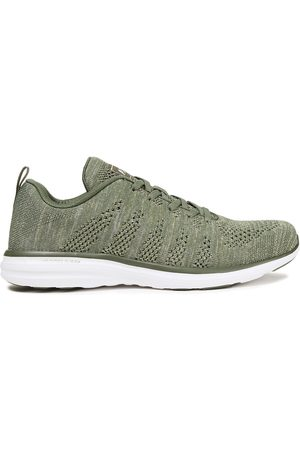 APL® ATHLETIC PROPULSION LABS Woman Techloom Pro Metallic Mesh Sneakers Army Size 10.5