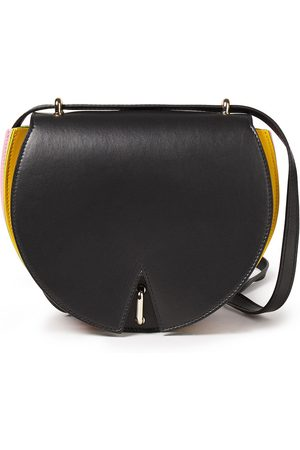 Sara Battaglia Woman Caroline Color-block Leather Shoulder Bag Size