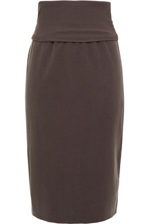 James Perse Woman Stretch-cotton Jersey Skirt Chocolate Size 1