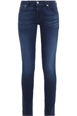 7 for all Mankind Woman Mid-rise Slim-leg Jeans Mid Denim Size 27