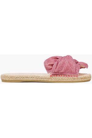 MANEBI Manebí Woman Hamptons Knotted Lurex Slides Size 36