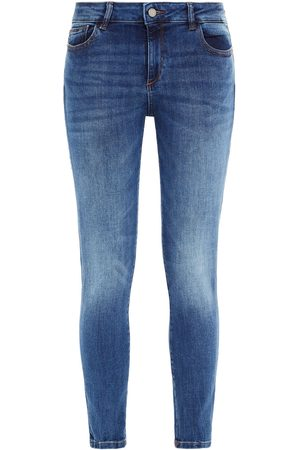 DL1961 Woman Faded Mid-rise Skinny Jeans Mid Denim Size 29