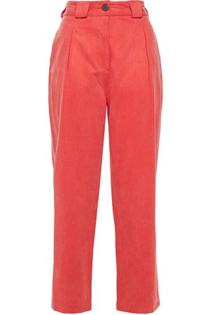 Mara Hoffman Woman Cropped Herringbone Tencel And Cotton-blend Tapered Pants Size 10