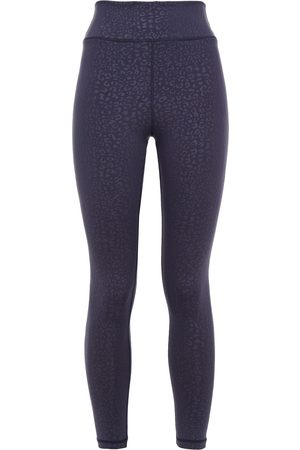The Upside Woman Leopard-print Stretch Leggings Indigo Size 6