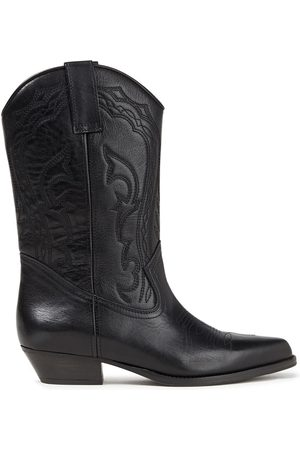 Bash Women Heeled Boots - Woman Cruz Embroidered Leather Boots Size 36